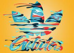 Adidas Originals Typography by Mario Clavasquin