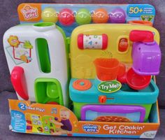 Description: Bright Stars Having A Ball Get Cooking Kitchen/  12-36 Months 50 Plus Activities Melodies and Sounds 2 Sided Play/  Item ID: 12 TARGET