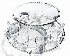 Imperial Glass Candlewick Punch Bowl