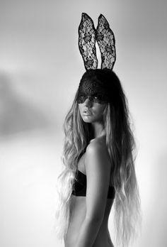 Lace bunny ears.
