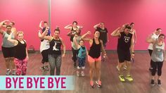 *NSYNC – Bye Bye Bye (Dance Fitness with Jessica) Video Description Throwback song! Here's a fun dance fitness routine to *NSYNC's « Bye Bye Bye. Zumba Fitness, Senior Fitness, Dance Fitness, Dance Workout Videos, Dance Videos, Dance Exercise, Dance Workouts, Dance Moves, Line Dance