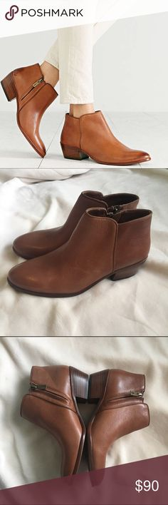 Sam Edelman 'petty' Bootie Brown pebbled leather Sam Edelman 'petty' Bootie. WOMENS size 6 never worn. Has faint scratches but is barely noticeable when wearing! Super comfy and amazing for winter! I am willing to come down on price just make an offer Sam Edelman Shoes Ankle Boots & Booties