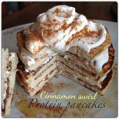 Ripped Recipes - Cinnamon Swirl Protein Pancakes - Give these cinnamon swirl protein pancakes a try!