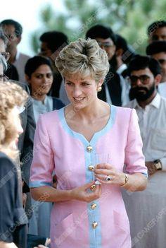 September 24 1991 Princess Diana visiting a family welfare centre in Noopur near Islamabad