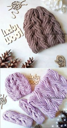 Cap knitting pattern of straps. Knit a women's hat with knitting needles video // Tatyana Maksimova Cap knitting pattern of straps. Knit a women's hat with knitting needles video // Tatyana Maksimova Cable Knitting, Knitting Stitches, Free Knitting, Knitting Needles, Diy Crafts Knitting, Knitting Patterns, Crochet Patterns, Knit Crochet, Crochet Hats
