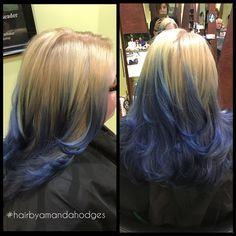 #balayage #bluehair #nvssalon