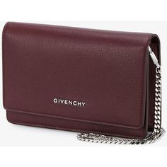 Givenchy Pandora Crossbody Bag ($1,300) ❤ liked on Polyvore featuring bags, handbags, shoulder bags, givenchy purse, givenchy shoulder bag, brown cross body purse, crossbody purses and chain strap purse