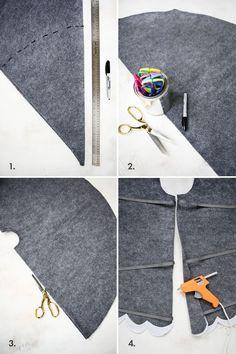So easy! no-sew tree skirt 3 ways! (click through for tutorial)