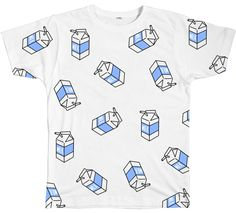 MILK PATTERN TEE http://inu-inu.co/collections/best-sellers/products/milk-pattern-tee
