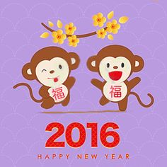 Chúc Mừng Năm Mới - Happy New Year 2016 Year of the Monkey