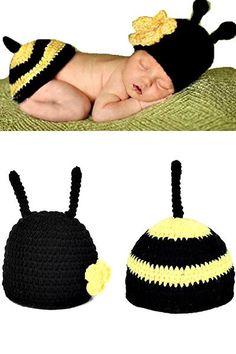 Little Bee Picture Costume Set - Newborn - 3 Months - 2 PC Set [item-gallery] [custom_html][/custom_html][icon-new-always]