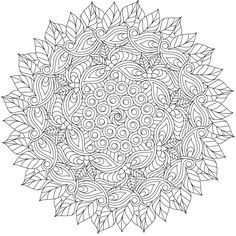 Free coloring pages for you to print Mandala Coloring Pages, Coloring Book Pages, Printable Coloring Sheets, Doodle Patterns, Doodle Borders, Mandala Drawing, Stencil Designs, Copics, Bunt