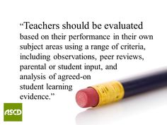 Teacher Evaluation for Effectiveness by Megan Wolfe