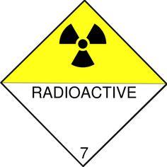 Radiation Warning Symbols: Radioactive Diamond Sign