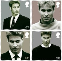 17 June 2003: A set of stamps featuring Prince William issued by the Royal Mail. Prince William became become the first royal in history to have a set of stamps issued celebrating his 21st birthday.