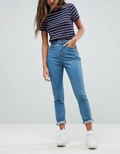 6e4a8718 35 Best outfits with mom jeans images | Casual outfits, Fashion ...