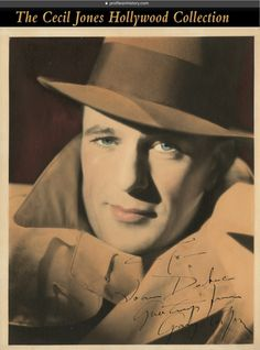 """Gary Cooper - Signed photograph. (ca. 1910s-1950s) Vintage original gelatin silver double weight single-weight glossy and matte 8 x 10 in. color-tinted portrait, """"To Joan Duke greetings from Gary Cooper""""."""