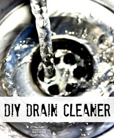 DIY Drain Cleaner! Easy Homemade Recipe for Drain Cleaner and getting the gunk out!