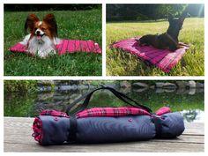 Hund: Decken - funktionale Hundedeck Größe S - pink kariert - ein Designerstück von Perro-Paolo bei DaWanda
