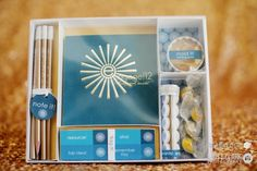 custom designed bento box with meeting 'goodies' from engage!12 by Gifts for the Good Life