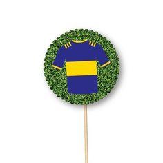 toppers personalizados de Boca Juniors Ideas, Fiestas, Food Cakes, Thoughts