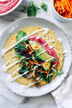 Chickpea Flour Crepes- just 3 ingredients to make these light crepes. Each one packs 9 grams of protein + 8 grams of fiber! (vegan + gluten-free)