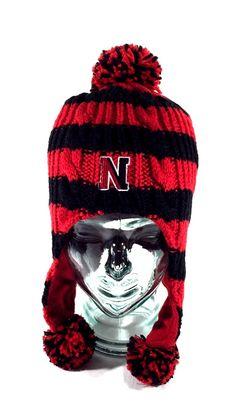 Style: Laplander / Pom / Tassels. Woven Quilted Peruvian Toque Knit Beanie. Northeastern Huskies NCAA Hat / Cap. Lined: Fleece Lining. Women's / Ladies.   eBay!