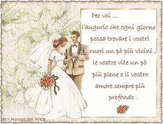Frasi d'auguri per gli sposi | Bel Matrimonio Just Married, Special Events, Diy Wedding, Projects To Try, Happy Birthday, Anniversary, Animation, Romantic, Cards