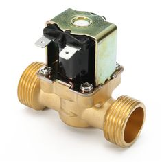 """3/4 inch 12V DC VDC Slim Brass Electric Solenoid Valve NPSM Gas Water Air N/C  Features : Body Material: Cast high-quality solid brass Operation Mode: N/C (normally closed) Pipe Size: 3/4"""" NPSM Voltage: 12V DC Applications: Space-limited energy-efficient home hobbyist Operation Type: 2-way 2-position direct lift diaphragm Water pressure: 0.02-0.8Mpa Size: 686035mm Flow Direction: Unidirectional (follow the arrow on valve body) Media: Water air natural gas propane butane petroleum oil mineral…"""