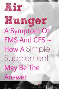 I get this several times a year! Especially when the weather gets humid. I feel like I can't take a good deep breath. It's interesting that this is a common experience with Fibromyalgia, CFS/ME. Really interesting information on how a simple supplement could help me find relief with this annoying symptom! *Pin Now For Later♥♥♥