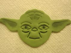 Yoda is a really easy cupcake topper to make. It requires only a few tools and you can make it as life like as you want or just leave it p. Yoda Cake, Black Food Coloring, Petal Dust, Cupcake Tutorial, Small Paint Brushes, Cupcake Toppers, Cookie Decorating, Cake Ideas, Birthdays