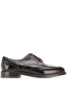 Berwick Shoes Ebano Oxford Shoes In Brown Berwick Shoes, Brogues, Derby, Brown Leather, Oxford Shoes, Women Wear, Lace Up, Mens Fashion, Fashion Design