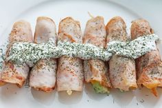 Turkey Avocado Roll Ups with Greek Yogurt Sauce | Clean Eating Diet Plan Meal Plan and Recipes