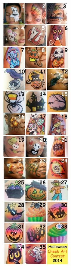 Hey everyone! I was just amazed by all the fantastic entries to our Halloween cheek art contest, held via the Cheek Art Face Painting Facebo...