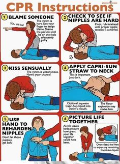 CPR Instructions... Hilarious! I'll definitely try this next time someone is choking. The stuff they don't teach you in medical school!