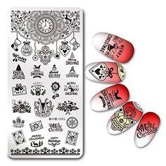 Born Pretty Plaque de Stamping Rectangulaire Nail Art pour Noël Modèle de Vacances d'Hiver Harunouta L031