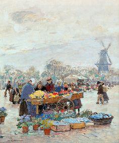 Hans Herrmann - Blumenmarkt in Vlissingen.