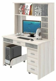 Here are some budget friendly DIY computer desk ideas and tutorials. Some made w. Here are some budget friendly DIY computer desk ideas and tutorials. Some made with simple pallet wood, some made fr Home Office Closet, Home Office Storage, Desk Storage, Home Office Design, Budget Storage, Storage Ideas, Diy Storage Furniture, Home Office Furniture, Pallet Furniture