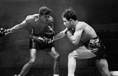 Credit: NY Daily News via Getty Images Sugar Ray Robinson winds up a haymaker during his third fight with Jake LaMotta, at Madison Square Garden in February 1945. Robinson won the ten-rounder by a unanimous decision.