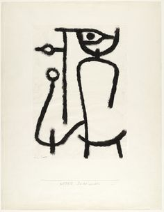 """Paul Klee (German, born Switzerland. 1879–1940) Lady Apart (Dame abseits) Date: 1940 Medium: Pigmented paste on paper on board Dimensions: 25 1/2 x 19 3/4"""" (64.8 x 50.2 cm) Credit Line: A. Conger Goodyear Fund MoMA Number: 96.1950"""