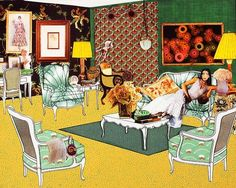 THE INSTANT DECORATOR (GREEN LIVING ROOM) // LAURIE SIMMONS