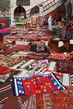 Colorful fabrics at the #markets in #Doha, #Qatar