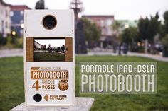 Picture of Portable Photobooth (iPad+DSLR). The updated instructable that is supposed to flat pack too. Someone made it without the laser cutter.
