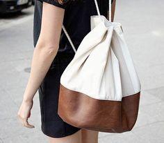 Cómo coser una bonita mochila tipo saco de polipiel