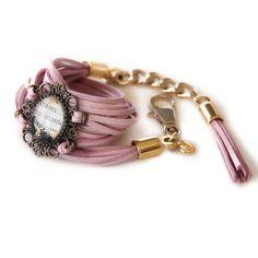 Cuore Suede Bracelet - casetta di marzapane bijoux