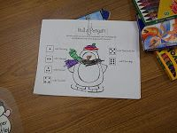 math tubs, classroom, school, winter, number sens, januari math, center idea, penguins, rolls