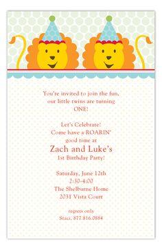 Twins Birthday Invitations Twin Birthday Invitations  #Twins #BabyShower #Invitations
