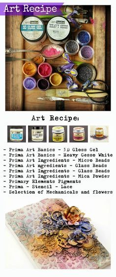 Finnabair: Art Recipe Wednesday: Textures and Pastels - mini collage
