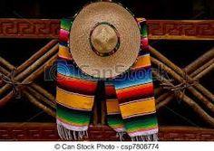 sombrero + zo'n sjaaltje met patroon = typisch!