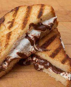 Grilled S'mores Sandwich   oh my God.  Looks yummy